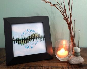 "Watercolor Abstract Fine Art Print: ""Rainier Rhythm"""