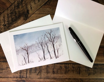 Trees In Winter Fine Art Holiday Greeting Card (Limited Edition)