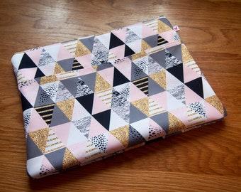 Pink Triangle Laptop Sleeve, laptop pouch, laptop bag, laptop bag