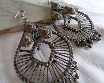 Boho Chic Wire/Metal Indian-Inspired Dangle Earrings