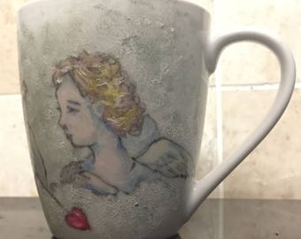 Cherub mug. One of a kind.