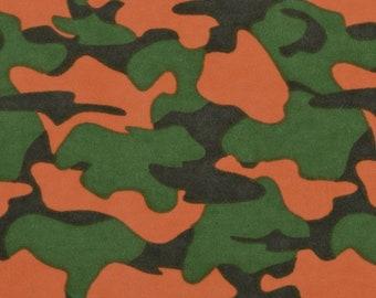 Weighted Blanket - Orange & Green Camo