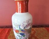 Satsuma Peacock Vase