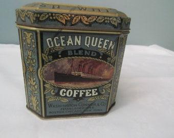 Ocean Queen Blend Coffee Tin