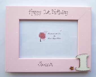 Personalised 1st Birthday Photo Frame First Picture Granddaughter Gift Daughter 6x4