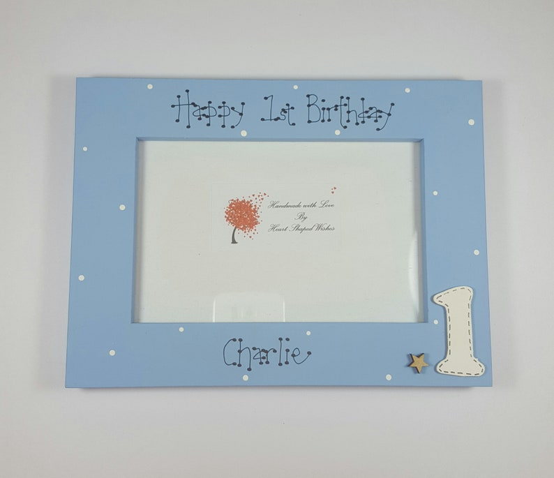Personalised 1st Birthday Photo Frame First Picture Grandson Gift Son 6x4