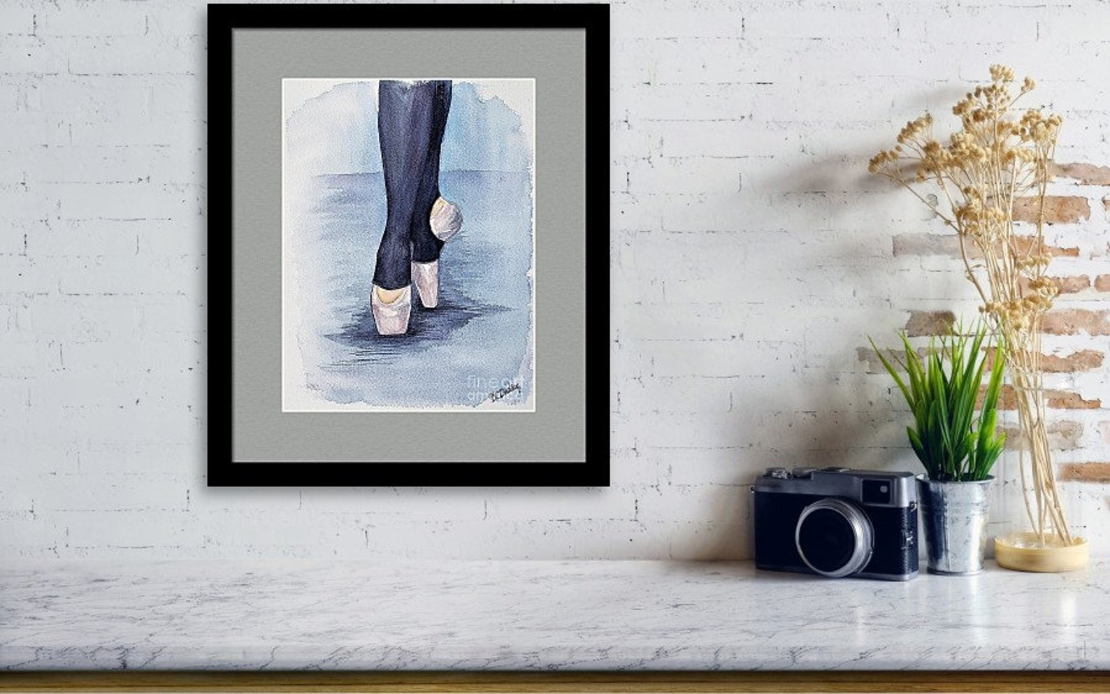 ballerina print, dancer art, dance print, wall art, watercolor, ballet, on pointe, dancer gift, recital gift, dance teacher gift