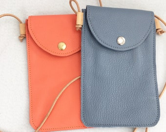 Simple Unlined Leather Phone Case