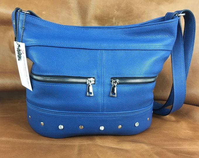 Large Leather bucket bag,  Leather Shoulder and Crossbody, Large Leather Bag