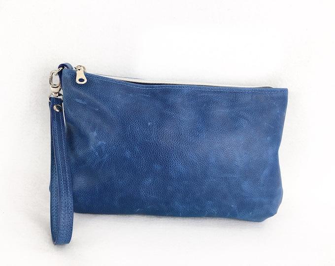 Royal blue, Medium Blue, Minimalist Clutch, evening clutch for women, everyday clutch for women