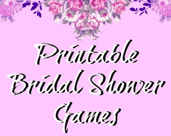 printable bridal shower games bridal games party activities purple roses theme