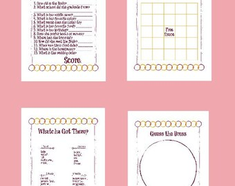 bridal shower games printable games wedding activities bridesmaid fun paper print sheets