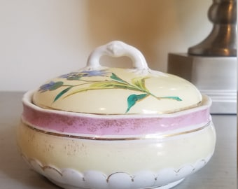 Bridgwood and Son porcelaine opaque bowl with lid