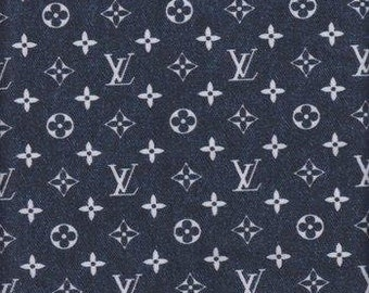 57cb042af77 Louis Vuitton Denim Inspired Print Spandex Fabric By The Yard