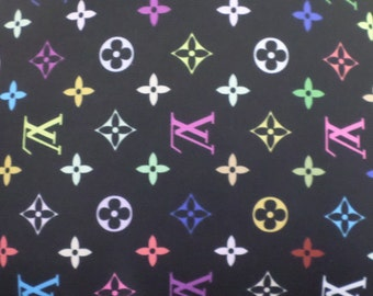 ad41811d718 Louis Vuitton Inspired Designer Print Spandex Fabric By The Yard