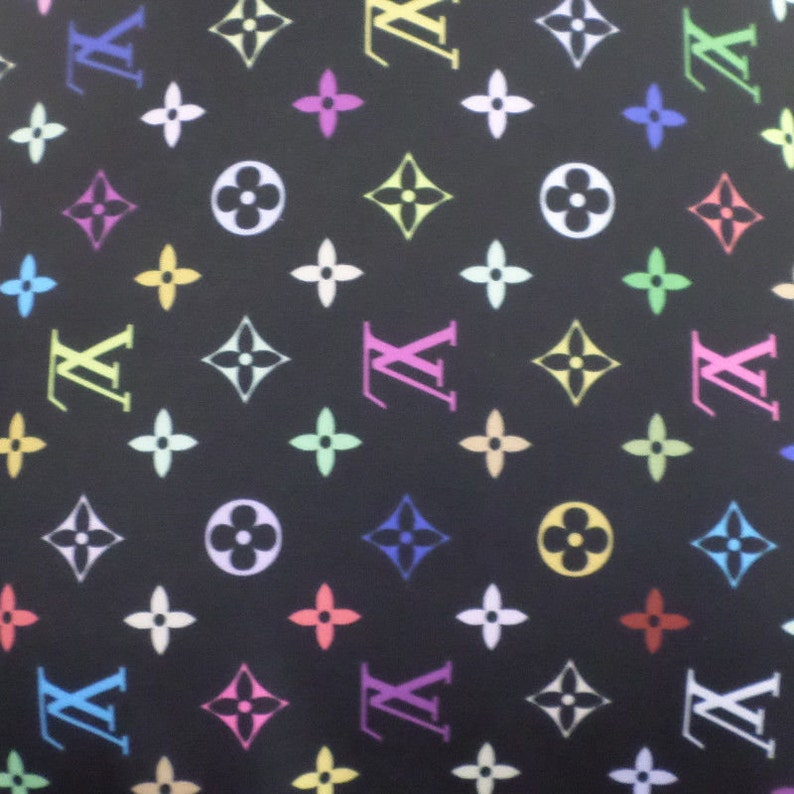 66df98753201 Louis Vuitton Inspired Designer Print Spandex Fabric By The