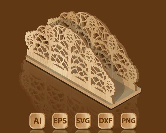 Template for laser cutting napkin holder etsy image 0 maxwellsz