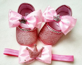 Glitter baby shoes  803ba1522fc6