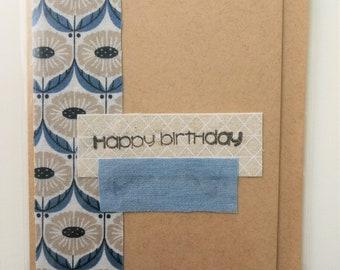 Happy Birthday handmade greeting card