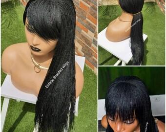 Black girl single braids