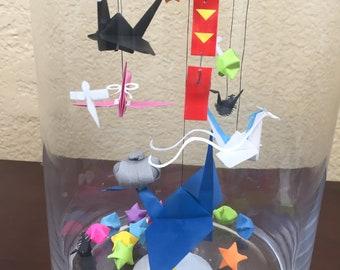 Spirited Away Inspired Origami Cranes In Jar