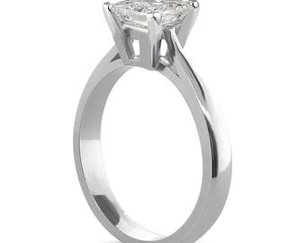 Princess Cut Cubic Zirconia,  Faux Diamond, 0.50 carat-2 carat sizes