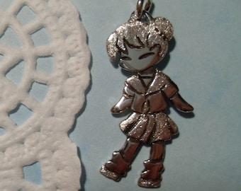 Miyoko-chan, school uniform, pendant, 925 sterling silver, unique