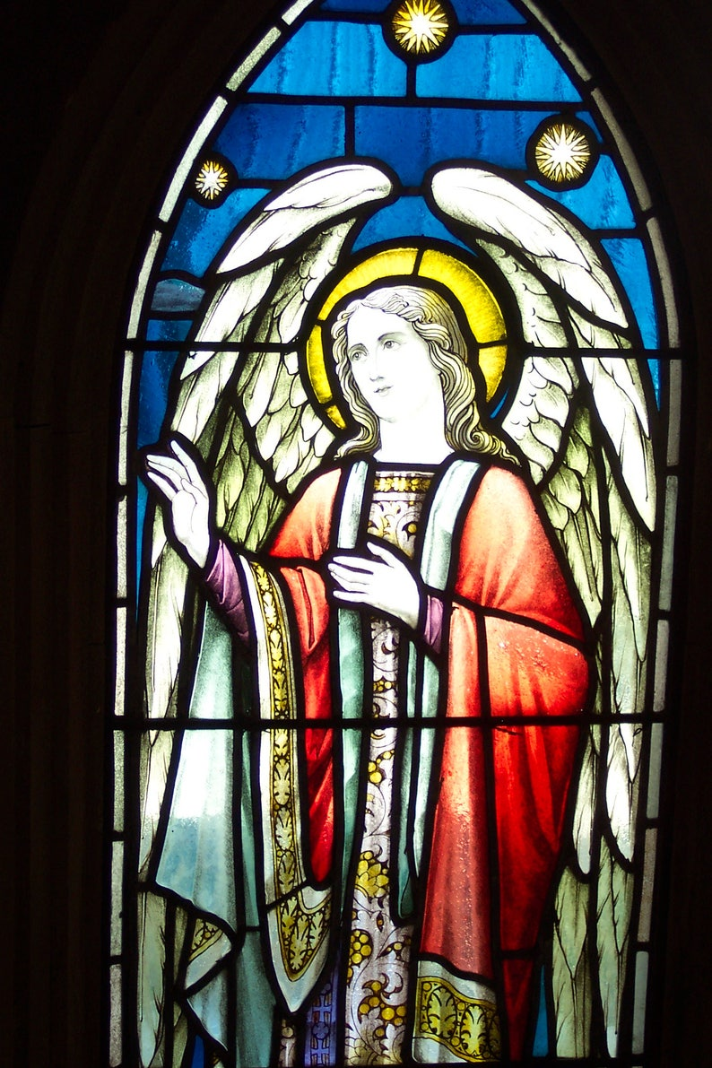 Image result for angel stained glass