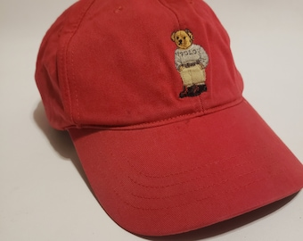 Polo Bear Ralph Lauren Vintage Strapback Dad Hat e7bbeef72cc4