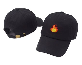 c10a02a816f Lit Flame Fire Custom Dad Hat