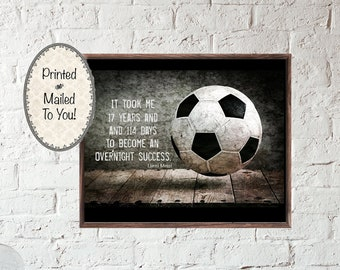 83980ad3dc3 Soccer Quote Poster. Printed Poster. Lionel Messi Quote. Perfect Gift for  Soccer Player. Wall Art for Game Room. Soccer Player. Loves Soccer