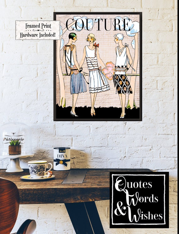 Fashion Quote Framed Poster Roaring 20 S Flapper Framed Etsy