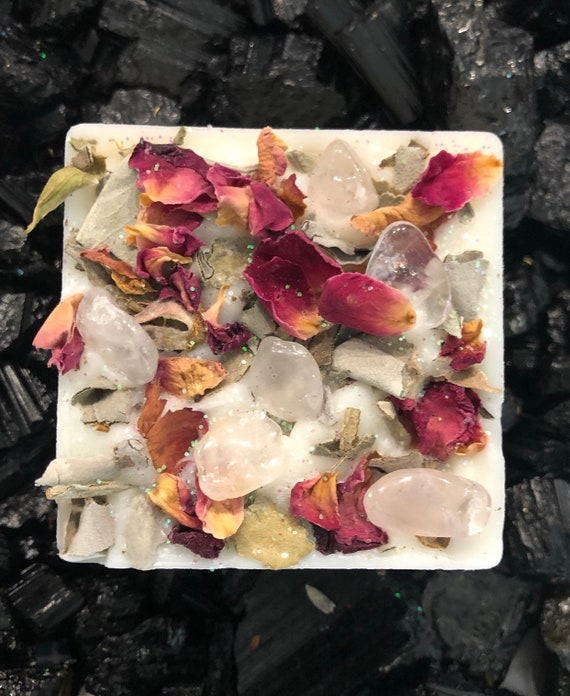 CLEANSE Wax Melt  Obsidian /& Sage  Pineapple Sage  Crystal Wax Melt  Crystal Activated Wax Melt BANISH