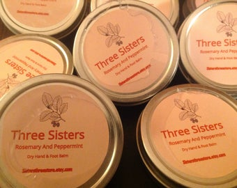 Rosemary and Peppermint Dry hands and feet Salve