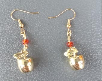 Golden Apple earrings