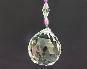 Hanging Crystal Purple Decoration