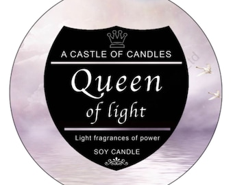 Queen of light - Soy Candle - hand poured