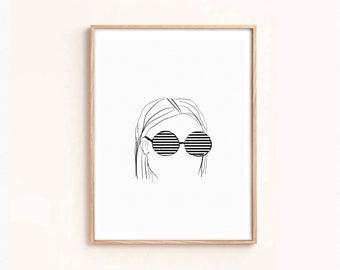 d9f95f7d67 Printable funky sunglasses
