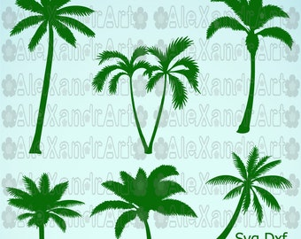 palm tree  SVG,DXF,PNG,pdf,eps,25 files, cutting files,palm svg,tree svg,nature svg,coconut tree svg
