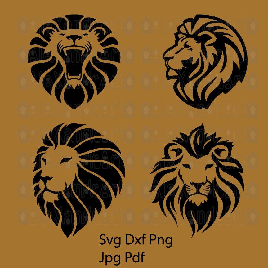 Lion King Svgdxfpngcutting Filelion Svglion Kinglion Etsy
