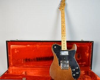 1973 Fender Original Vintage Telecaster Custom Mocha Electric Guitar w/OHSC