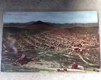 Cripple Creek CO circa 1960s Postcard