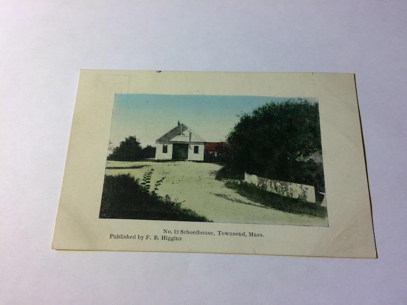 Massachusetts Postcard School House Townsend Massachusetts Vintage Postcard Unposted