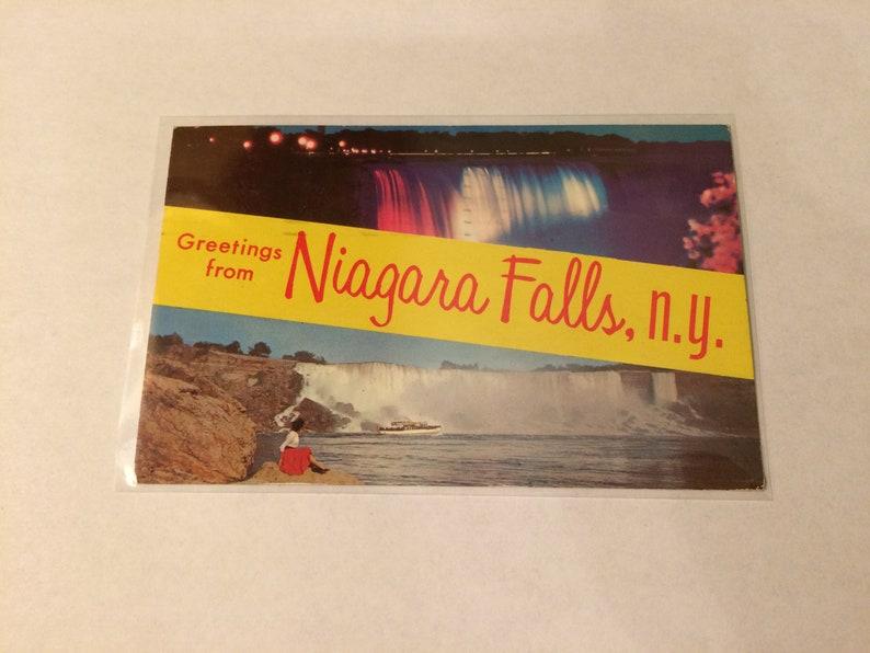 Postcard Vintage Greetings From Niagara Falls N.Y