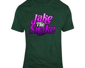 Retro Wrestling Video Game Wrestlefest Jake The Snake Roberts Wrestling Fan V2 T Shirt