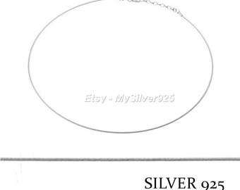 40 + 3cm - neck Cable 1 mm 925 Silver - discount
