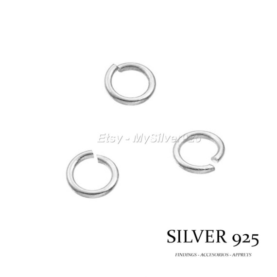 5 sterling silver 7mm open jump rings,Craft findings