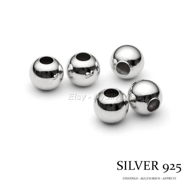 10 Degressive rate 100 or 500 Silver Pearls 925 2mm