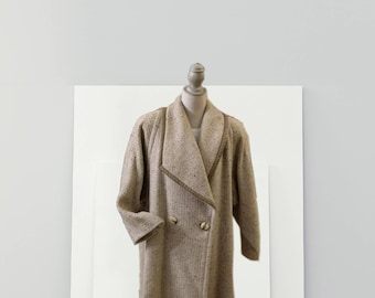 Vintage Beige Wool coat