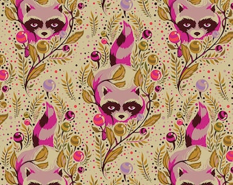 OOP /& hard to find Acacia Raccoon Sky By Tula Pink 100/% cotton fabric